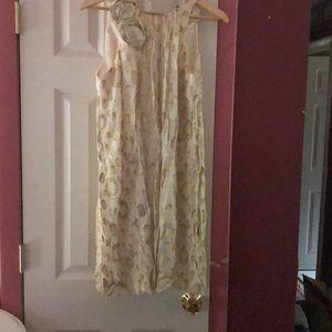 ABS beige gold dress size 6 tall
